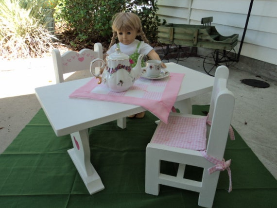 Table and chairs for your American Girl Doll