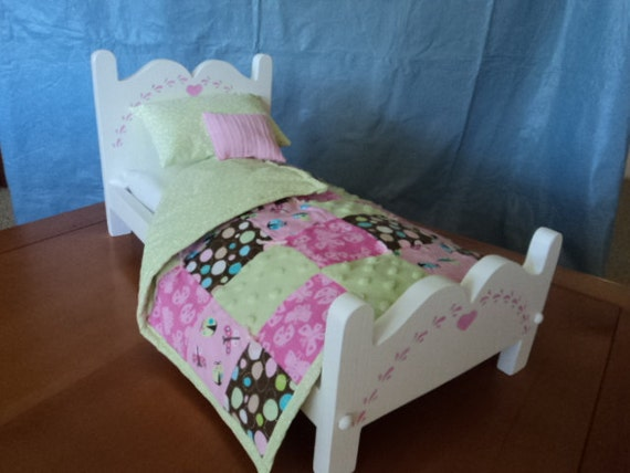 American Girl Doll Bed and Bedding Handmade