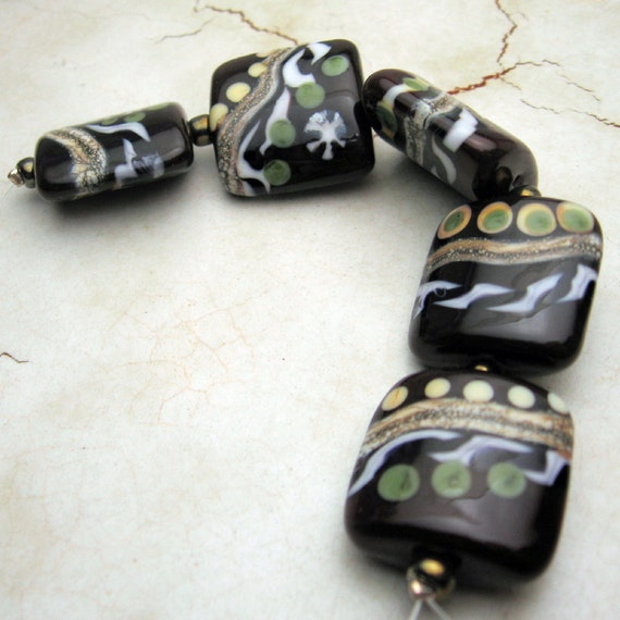 Artisan Handmade Lampwork Beads, Italian Trattoria