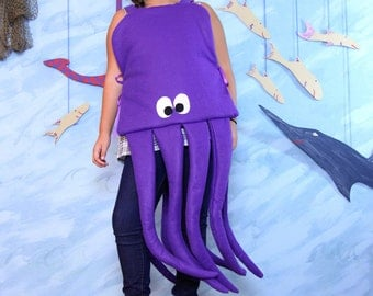 Octopus Costume -childrens size 6-12
