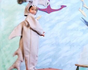 Hammerhead Shark Costume Size 7-8