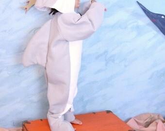 Grey & White Dolphin Costume