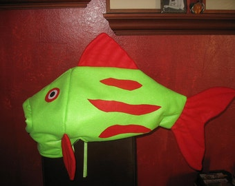 Green & Red fish costume