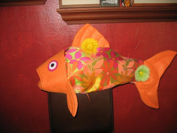 Orange Flower fish costume-one size fits all