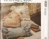 pillow pattern, accessories, sewing pattern, Victorian Magic McCalls Pattern Pillows frames boxes basket uncut ff pattern