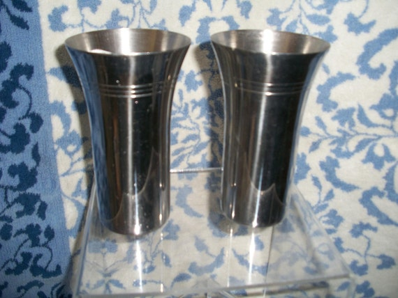 Stainless Steel Metal Drinking Glasses Tumblers By