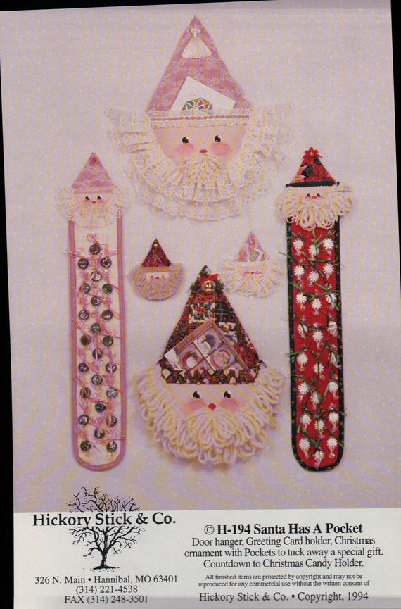 Vintage santa door hanger greeting card holder by for Door xmas card holders