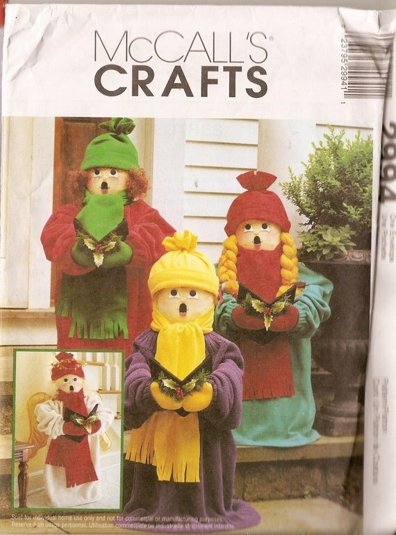 "ANGEL Dolls crafts  24""  Singing, Carolers, Sculptured doll 2994 McCall Craft Pattern"