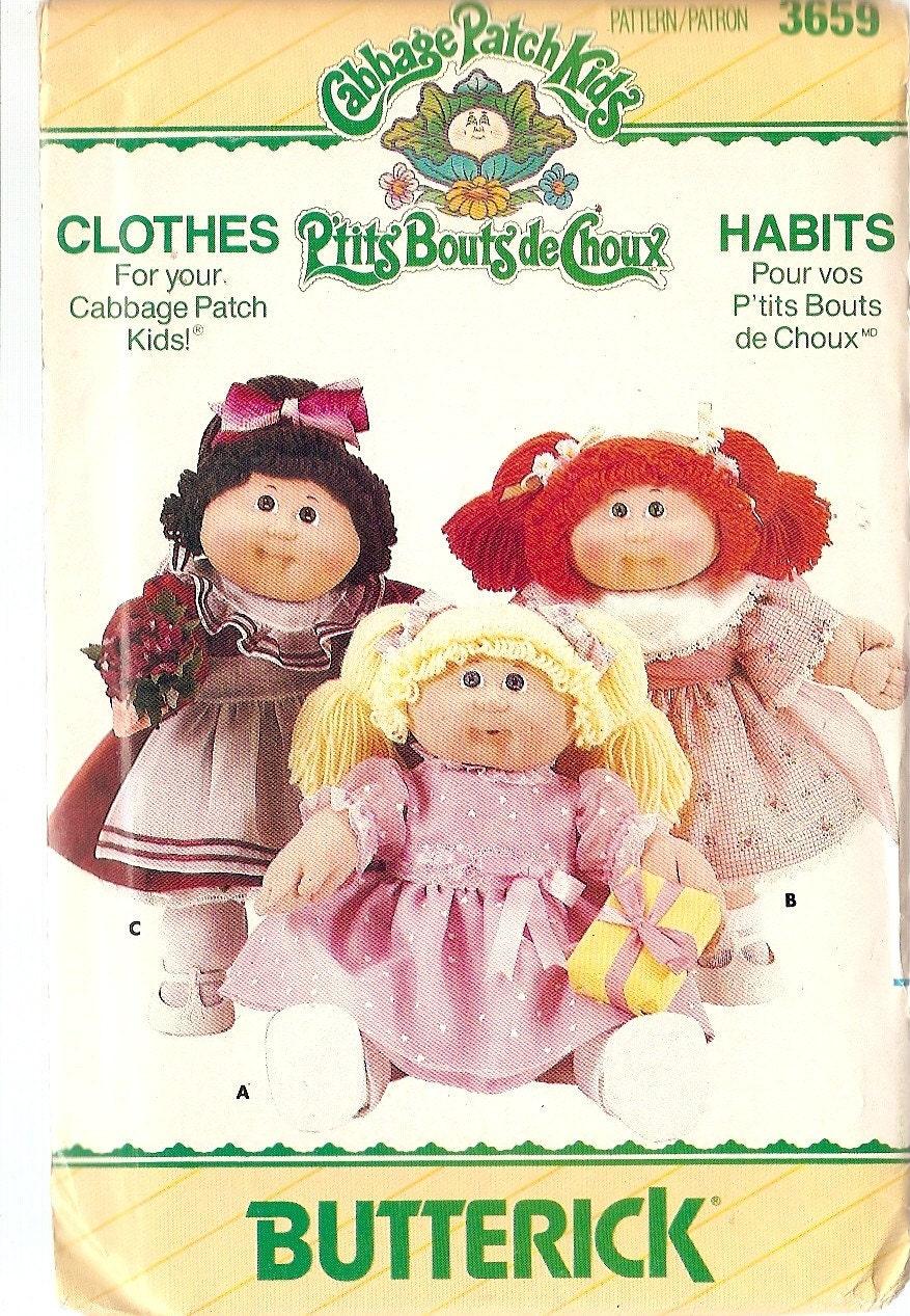 cabbage patch doll clothes butterick by nancesnostalgia