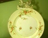 Vintage Rose Vine Dinner Plate