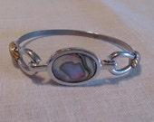 Avon Vintage Abalone Silver Bracelet