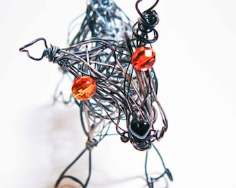 Queensland Heeler Pet Momento Wire Wrapped Dog Sculpture