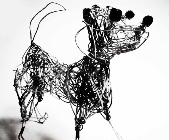 Dalmatian dog wire sculpture for Dog wire art