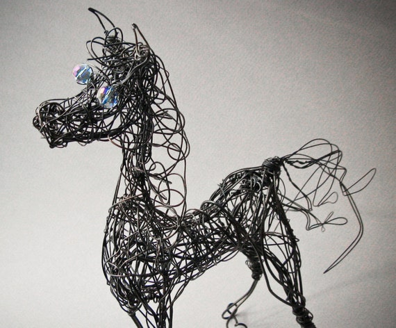 On Hold for Dawn Williams Wire Horse Sculpture