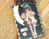 Victorian Glass Vintage Postcards Adornments