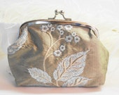 Taupe Silk Gardin Clutch
