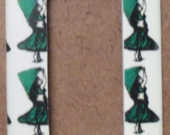 Green Belly Dancer GFCI/Rocker Switchplate Cover - Free Shipping - 1014BD