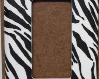 Zebra print GFCI/Rocker Switchplate Cover - Free Shipping - 1014ANML