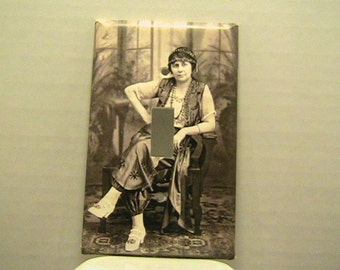 Seated Belly Dancer/Gypsy Switchplate Cover - Free Shipping - 1010BD