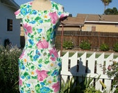 Vintage 1980's Spring Dress With Bright Floral Print - By Adrienne Vittadini - Petite 4