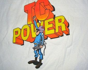 Vintage 1980s Computer Geek T Shirt - IBM TC Power -  Size  Large