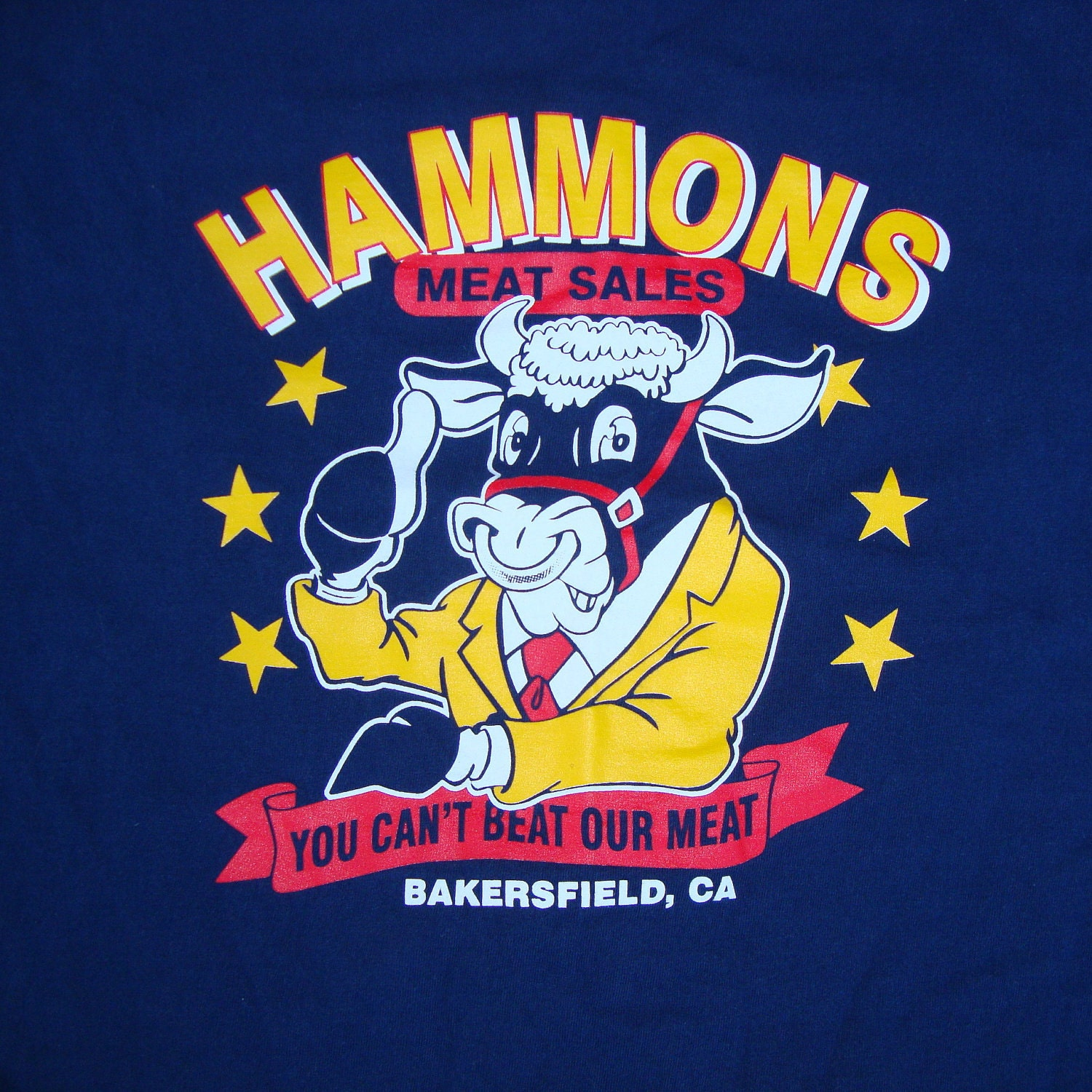 Vintage Navy Blue Hammons Meat Sales You Can 39 T Beat Our