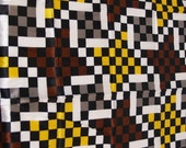 VTG fabric: Silky checkered windmill
