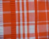 VTG fabric: orange seersucker plaid