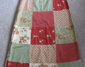 Size small, US women's size 6 Handmade patchwork cotton skirt