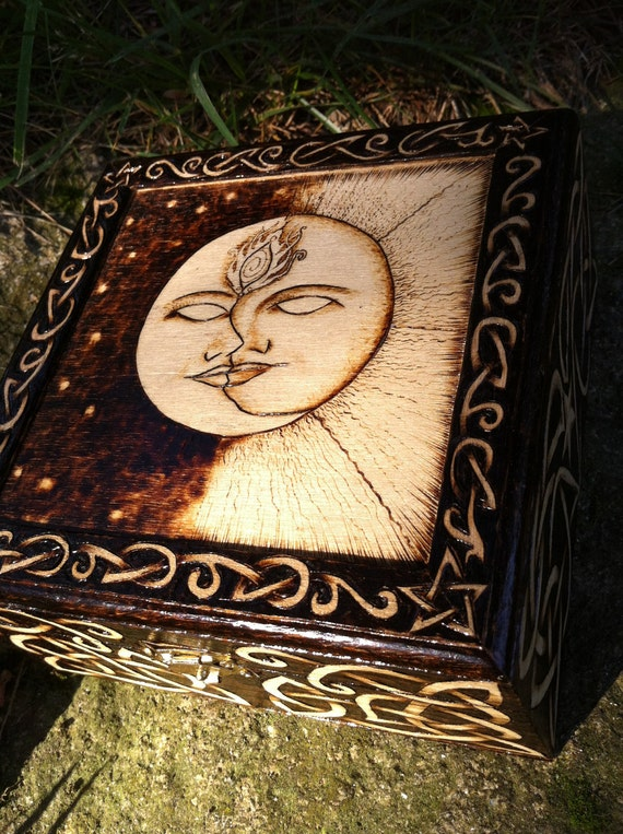 Sun And Moon Ooak Jewelry Box By Greenwoodcreations13 On Etsy