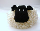 Knitted cream sheep tea cosy - handmade -