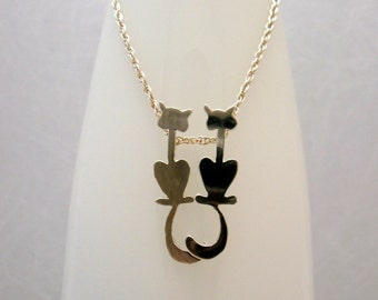Love Cats - necklace in sterling silver