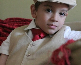 Ring Bearer Special of hat, vest, pants and shirt