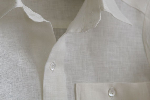 Ovation Boy Linen Shirt in White size