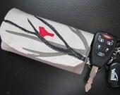 Red bird card-key-holder