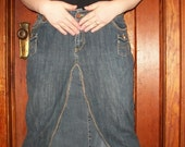 long denim skirt size 18 woman's