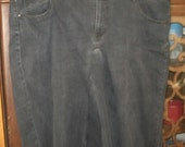 reserved for ieattofu68 woman's size18 black denim knee length
