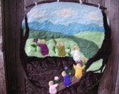 Root Children - Felted Wool Wall Hanging (CUSTOM)