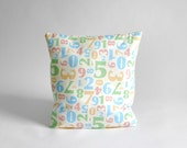 Numbers Pillow Cover