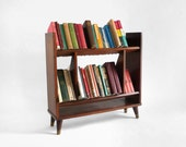 Mid Century Wooden Book Case - Modern, Storage, Retro, Shelf