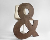 ON HOLD until August 10th Ampersand Letter - Wood, Wall Hanging, Baby Name, Nursery, Wedding, Personalized