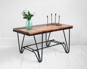 Reclaimed Wood Coffee Table - Mid Century Modern, Industrial, Retro