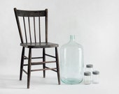 ON HOLD until Aug 16th - Antique Oversized Glass Jug - Bottle, Kitchen, Blue, Large, Wine