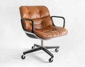 Vintage Knoll Pollock Executive Armchair - Chair, Mid Century, Modern, Eames, Office