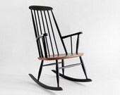 ON HOLD until Feb 10th - Vintage Ilmari Tapiovaara Teak Rocking Chair - Mid Century, Modern, Wood, Danish, Rocker