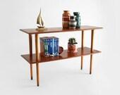 Mid Century Wood Shelf - Book Case, Modern, Storage, Retro