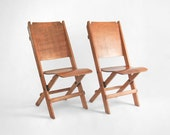 Antique Wood Folding Chairs - Mid Century, Modern, Theater, Wooden