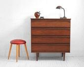 Vintage Wood Dresser - Mid Century, Modern, Cabinet, Retro, Eames, Storage