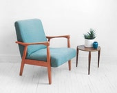 Mid Century Lounge Chair - Modern, Side, Wood, Retro