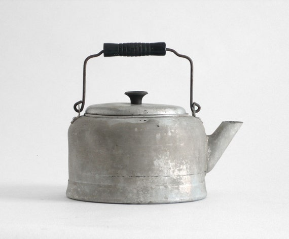 retro tea kettle items similar to vintage tea pot kettle metal kitchen 1949